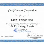 Сертификат 17 - Яцкевич Олег Степанович